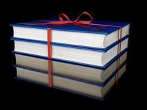 Twee blauwe boeken Royalty-vrije Stock Fotografie