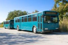 Twee Blauwe Bussen royalty-vrije stock fotografie