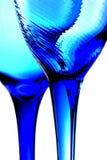 Twee Blauwe Glazen Royalty-vrije Stock Afbeeldingen
