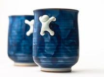 Twee blauwe koppen Stock Fotografie