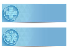 Twee blauwe medische banners Royalty-vrije Stock Fotografie