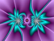 Twee Bloemen stock illustratie