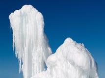 Twee blokken van ijs Royalty-vrije Stock Afbeelding