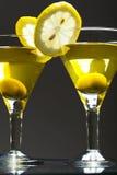 Twee bocals van martini Royalty-vrije Stock Afbeeldingen
