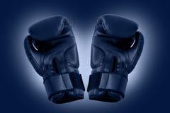 Twee bokshandschoenen royalty-vrije stock fotografie