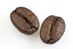Twee bonen van de Koffie Royalty-vrije Stock Fotografie