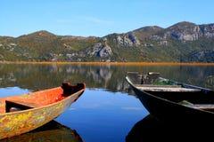 Twee boten Stock Afbeelding