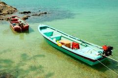 Twee boten Royalty-vrije Stock Afbeeldingen