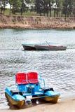 Twee boten en catamaran Royalty-vrije Stock Afbeelding