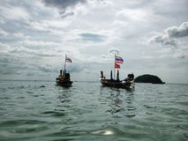 Twee boten in het overzees Royalty-vrije Stock Fotografie