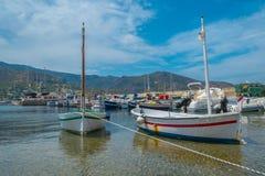 Twee boten in het overzees Royalty-vrije Stock Afbeeldingen