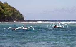 Twee boten in Padangbai Royalty-vrije Stock Foto's