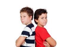 Twee boze vrienden Stock Afbeelding