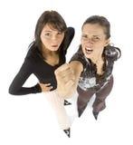 Twee boze vrouwen Royalty-vrije Stock Afbeeldingen