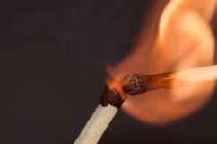 Twee brandende gelijken Royalty-vrije Stock Afbeeldingen
