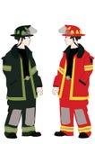 Twee Brandweerlieden Royalty-vrije Stock Afbeelding