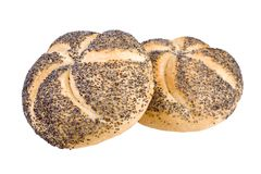Twee breadrolls Royalty-vrije Stock Foto's