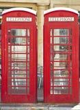 Twee Britse rode telefooncellen Royalty-vrije Stock Foto