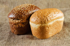 Twee broden van brood Stock Fotografie