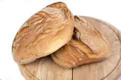 Twee broden van vers brood stock afbeelding