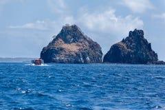 Twee Broers Fernando de Noronha Island Stock Fotografie