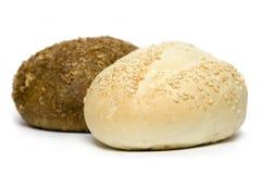 Twee broodjes stock afbeelding