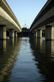 Twee bruggen stock foto's
