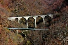 Twee bruggen op een weg Stock Foto