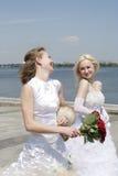 Twee bruiden Stock Afbeeldingen
