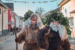 Twee bruine haired wilde mensen royalty-vrije stock foto
