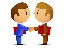 Twee businessmenshanddruk vector illustratie