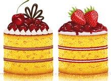Twee cakes Royalty-vrije Stock Afbeeldingen
