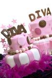 Twee Cakes van het Fondantje Royalty-vrije Stock Fotografie