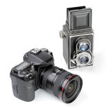 Twee Camera's. Stock Foto