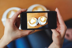 Twee Cappuccinos stock afbeelding