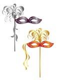 Twee Carnaval maskers Royalty-vrije Stock Foto