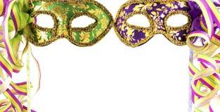 Twee Carnaval maskers Stock Afbeeldingen
