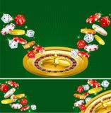 Twee casinoachtergronden royalty-vrije illustratie