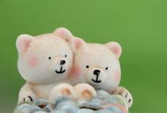 Twee ceramische beren Royalty-vrije Stock Foto