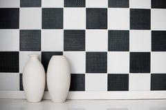 Twee ceramische vazen Stock Fotografie