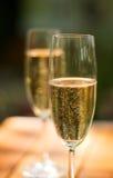 Twee champagneglazen Stock Afbeelding