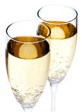 Twee champagneglazen royalty-vrije stock afbeelding