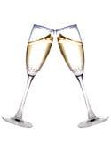 Twee champagneglazen royalty-vrije stock foto's