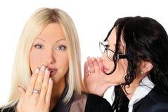 Twee jonge charmante meisjes Stock Foto's