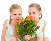 Twee charmante meisjes Royalty-vrije Stock Afbeelding