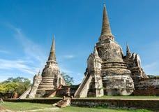 Twee Chedis in Thailand Royalty-vrije Stock Foto's