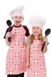 Twee chef-koks Stock Afbeeldingen