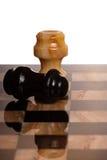 Twee chessmans Royalty-vrije Stock Afbeeldingen