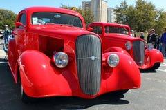 Twee Chevy Coupes Stock Foto