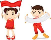Twee Chinese jonge geitjes Royalty-vrije Stock Foto's